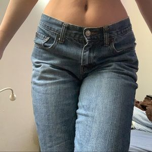 low waisted levi's boot cut